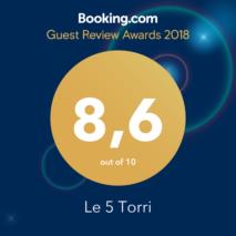 Le 5 Torri b&b Trapani - Punteggio Booking 8.6/100
